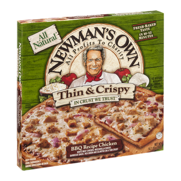 Newman's Own All Natural Thin & Crispy BBQ Recipe Chicken Pizza
