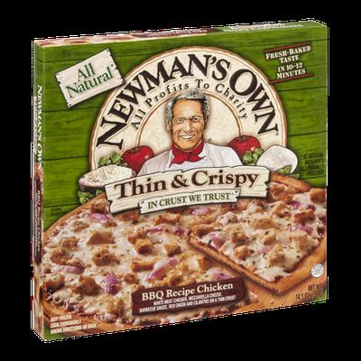 Newman's Own All Natural Thin & Crispy BBQ Recipe Chicken Pizza