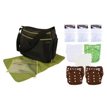 Trend Lab 19 Pc. Cloth Diaper Starter Pack - Green and Brown by Lab