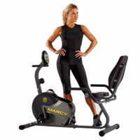 Marcy Recumbent Mag Cycle, Black Silver and Yelllow, 1 ea