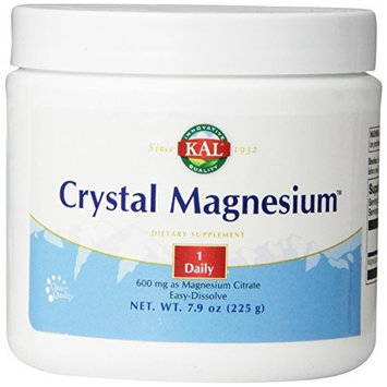 KAL Crystal Magnesium 600 mg Powder, Unflavored, 8 Ounce