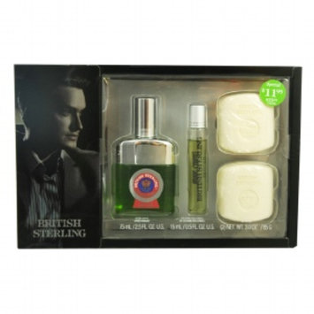 Dana British Sterling Gift Set for Men, 3 Pc, 1 ea