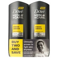 Dove Men+Care Fresh Awake Body and Face Wash 13.5 oz, Twin Pack