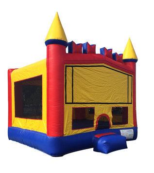 Jump Orange JumpOrange 15-foot Rainbow Brick Inflatable Bouncy Castle