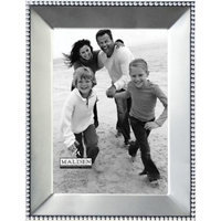 Malden Beaded Metal Picture Frame, Satin Nickel, 5
