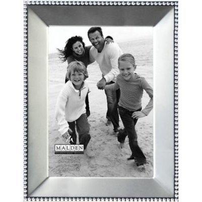 Malden Beaded Metal Picture Frame, Satin Nickel, 5