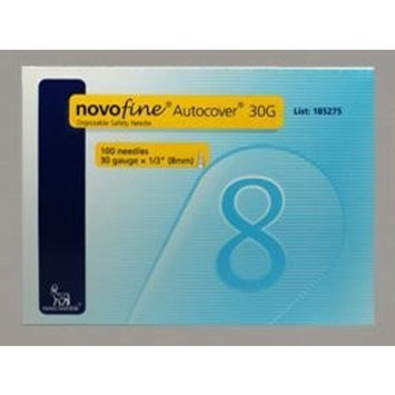 Novofine Rx Novofine 30 Insulin Pen Needle Autocover Disposable 1/3 Inch - Box of 100