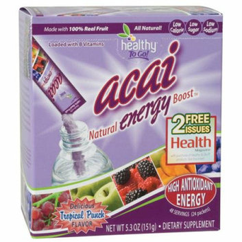 To Go Brands Acai Natural Energy Boost Powder 24 Packets