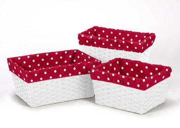 Sweet Jojo Designs 3 Piece Little Ladybug Polka Dot Print Basket Liner Set