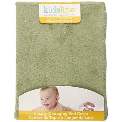 Kidsline Kids Line Luxury Contour Changing Pad Cover, Sage