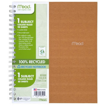 Mead® Recycled Notebook - Student Notebooks
