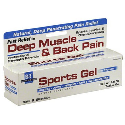 Nature's Way Boericke & Tafel Sports Gel Deep Muscle & Back Pain Reliever Topical Gel, 2.5 oz