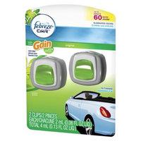 P&G Febreze Car Gain Original Scent Air Freshener Vent Clips 2 ct