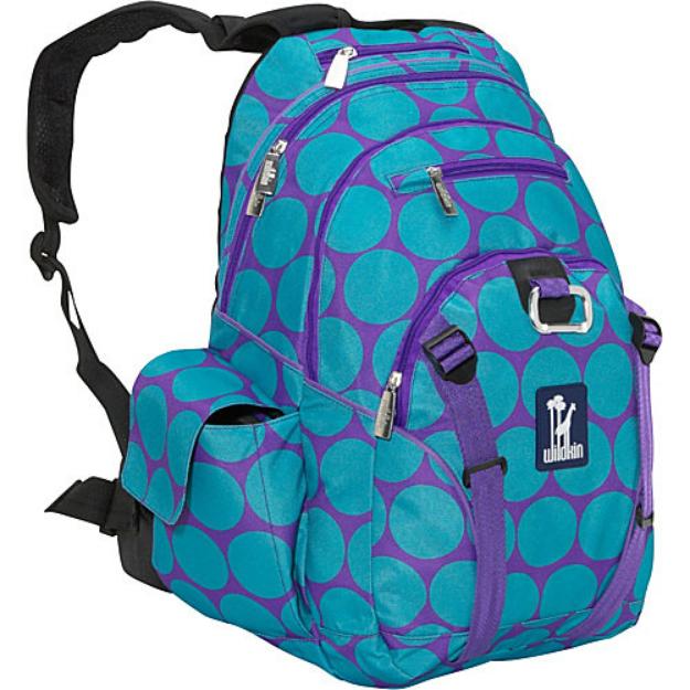 Wildkin Big Dots Aqua Serious Backpack