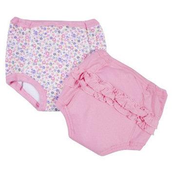 Gerber Newborn Girls' 2 Pack Training Pants 2T/3T