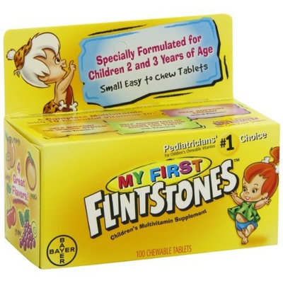 Flintstones Vitamins My First Flintstones Chewable Vitamins for Ages 2 to 3 Years, 100-Count Bottle