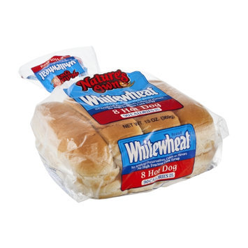 Nature's Own Whitewheat Sliced Enriched Hot Dog Buns - 8 CT
