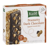 Kashi Peanutty Dark Chocolate Layered Granola Bars - 6 CT