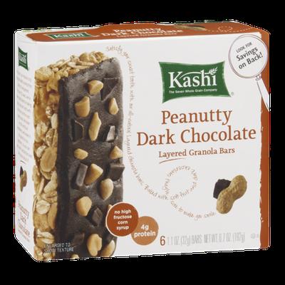 Kashi Peanutty Dark Chocolate Layered Granola Bars - 6 CT
