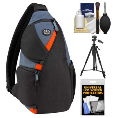 Tamrac 4276 Jazz 76 Digital SLR Camera Sling Backpack Case (Black/Multi) with Tripod + Cleaning Kit