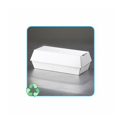 LBP Paper Clamshell Food Containers in White/Tan
