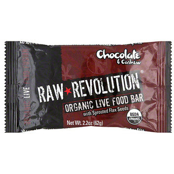 Raw Revolution Organic Live Chocolate & Cashew Food Bars