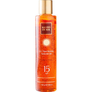 Cam Consumer Products, Inc. Rayito De Sol RAY404 2-in-1 Sport Bronzing Sunscreen Gel Natural Color SPF 15