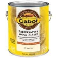 Cabot Preservative Wood Finish Tintable Neutral Base Semi Transparent 1 Gl