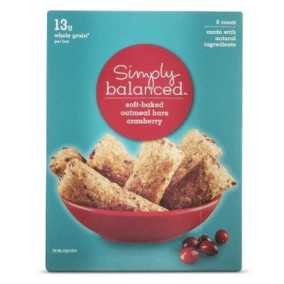 Simply Balanced Cranberry Oat Soft Oat Bar 6.8oz