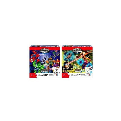 Hasbro Marvel Super Hero Squad 70-piece puzzle with Stickers (Puzzle Picture May Vary)