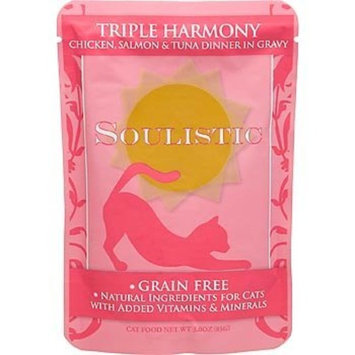 Soulistic Triple Harmony Chicken, Salmon & Tuna Dinner in Gravy Cat Food Pouches