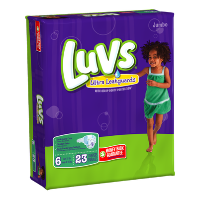 Luvs with Ultra Leakguards Jumbo Pack Size 6 Diapers 23 Count