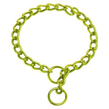 Platinum Pets Coated Chain Training Collar - Corona Lime (14