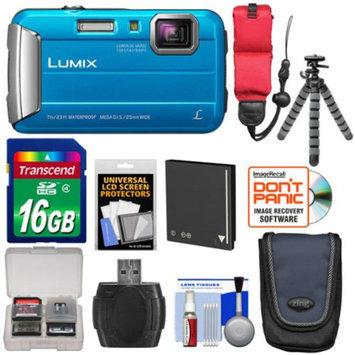 Panasonic Lumix DMC-TS25 Shock & Waterproof Digital Camera (Blue) with Accessory Kit