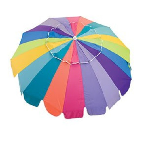Rio Brands 7FT Multi Beach Umbrella SPF100