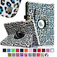 Fintie Rotating Stand Case Cover for iPad Air / iPad 5 (5th Generation), Leopard Rainbow