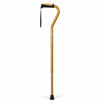 Hugo Adjustable Offset Cane with Reflective Strap