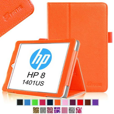Fintie Folio Case Premium Vegan Leather Cover with Stylus Loop for HP 8 (Model 1401) Android Tablet