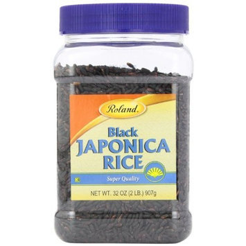 Roland Black Japonica Rice, 32-Ounce Jars (Pack of 4)