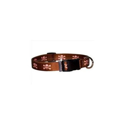 Yellow Dog Design BPSK103L Brown and Pink Skulls Standard Collar - Large