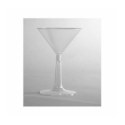 WNA Comet (96 per Carton) 6 oz Comet Plastic Martini Glass in Clear