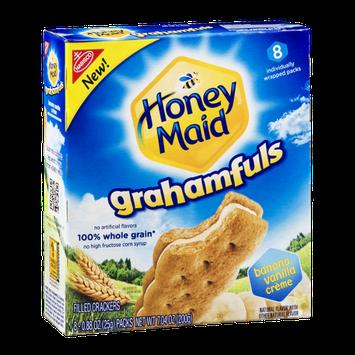 Honey Maid Grahamfuls Filled Cracker Packs Banana Vanilla Creme - 8 CT