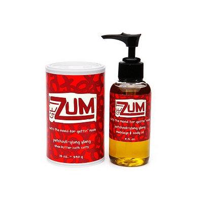Zum Get  Shea Butter Bath Salt/Massage & Body Oil Gift Pack
