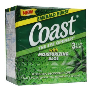 Coast Bar Soap, Emerald Burst, 3 ea