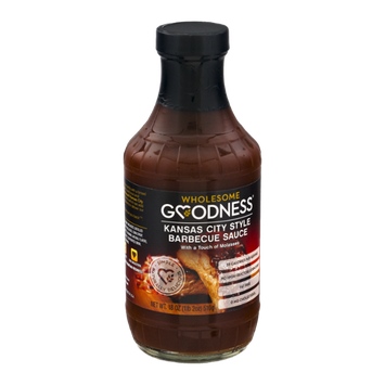 Wholesome Goodness Barbecue Sauce Kansas City Style