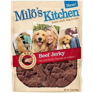 Milo's Kitchen Beef Jerky, 15-Ounce (Pack of 4)