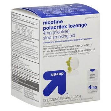 up & up up&up Nicotine Polacrilex 4 mg Mint Lozenges - 72 Count