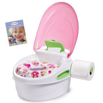 Summer Infant Step-By-Step Potty Trainer and Step Stool, Pink/Green