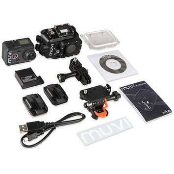 Veho MUVI K-Series VCC-006-K2 Hands-free Camcorder with 10x Digital Zoom, WiFi and Waterproof Case
