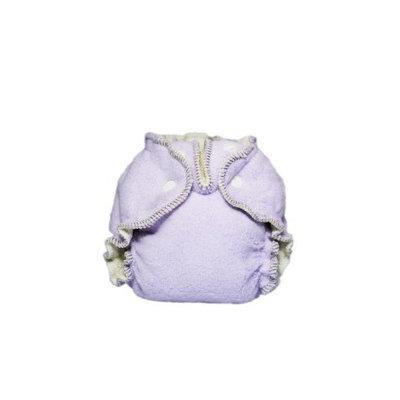 Kissaluvs Cotton Fleece Fitted Diaper, Purple, 0 - Newborn 5-15lbs